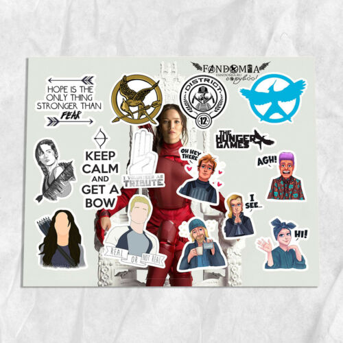 Hunger Games Katniss Everdeem Peeta Mellark A4 vinyl stickers decals
