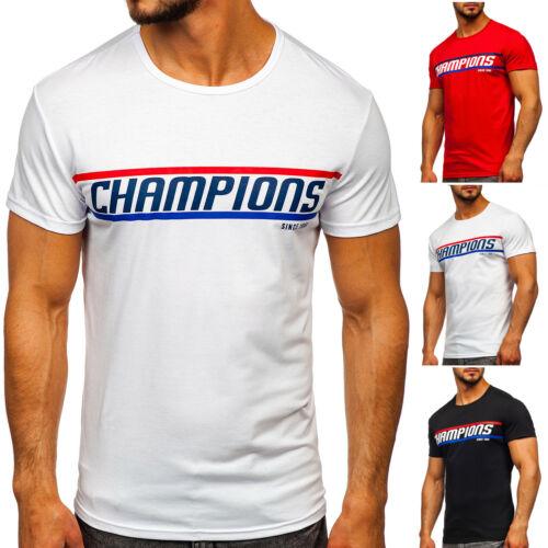 T-Shirt Tee Kurzarm Rundhals Classic Aufdruck Slim Fit Print Herren BOLF Motiv