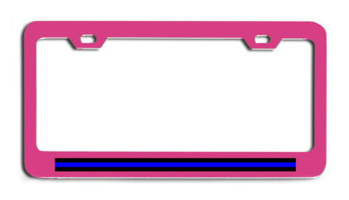 Thin Blue Line Police offier sheriff suppo License Plate frame tag holder Bumper