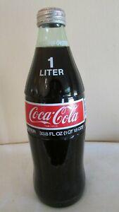 Coca Cola Coke 1 Litros De 33 8 Oz Botella De Vidrio Vintage Sellado Sin Abrir Ebay