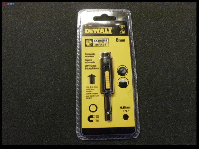 """Dewalt Extreme Impact Easy Clean 1/4"""" Llave de Vaso 8mm DT7430 Dt 7430 Bits"""