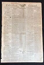 1808 dsply newspaper PRESIDENT THOMAS JEFFERSON Trade Embargo before WAR of 1812