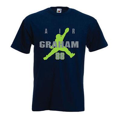 "Jimmy Graham Seattle Seahawks /""Air Graham/"" jersey T-shirt S-5XL"
