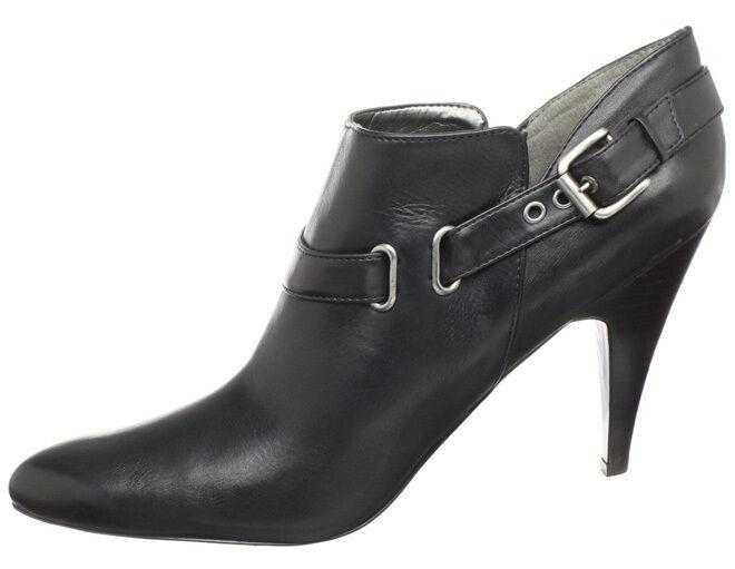 Nuevos Nuevos Nuevos Nine West mujer Cuero Tobillo Tacón Stiletto Zapato de arranque tire de vestir talla 11 M  ofreciendo 100%