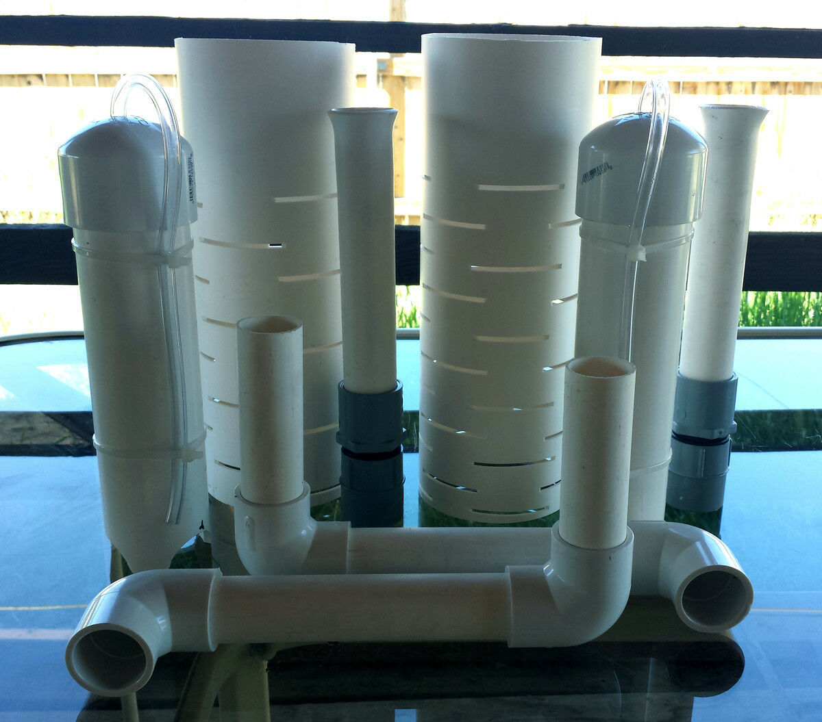 """With Snorkel Tube! 12/"""" Bell Siphon Kit for Aquaponics Hydroponics IBC Tote"""