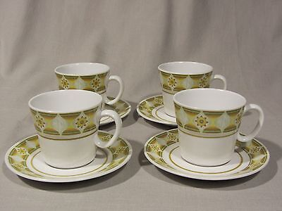 Noritake Progessions Stoneware SUNGLOW 9042 - Teacup and Saucer - Set of 4