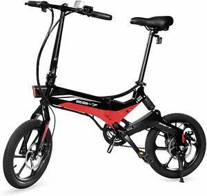 Swagcycle-EB-7-Folding-Electric-Bike-36V-Lithium-ion-Battery-w-350W-Motor-Black