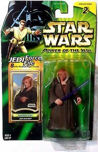 Star Wars Power of the Jedi LOOSE 3.75 Figure SAESEE TIIN Jedi Master Force File