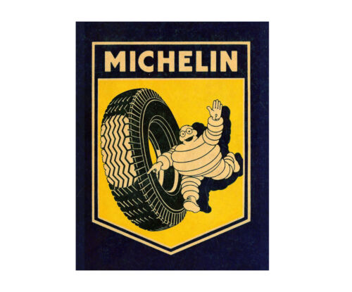 Michelin Banner Tyre Advertising vintage garage sign shed workshop retro classic