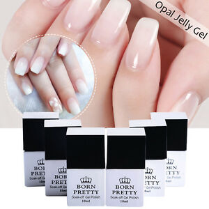 BORN-PRETTY-10ml-Gellack-Opal-Jelly-Gel-White-Soak-Off-Nagel-Kunst-Gel-Polish