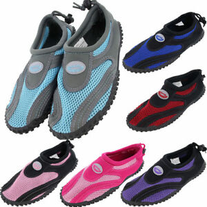 4ff95d66ff0c Womens Water Shoes Aqua Socks Yoga Exercise Pool Beach Dance Swim ...