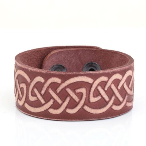 Bonne Chance Irlandais Knot Infinity infini LOVE Femme Bracelets En Cuir Hommes Brassard