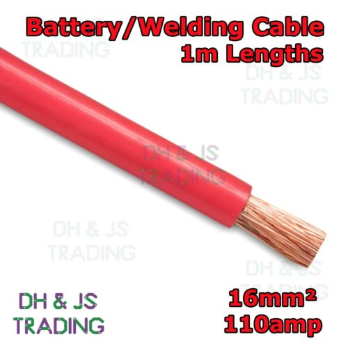 1m Red Battery Welding Cable 16mm² 110a Flexible Marine Boat Automotive Wire