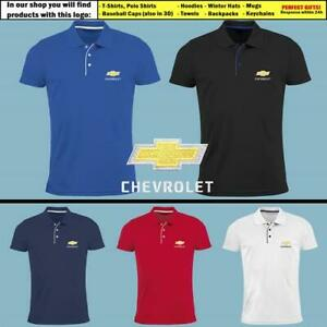 Chevrolet-Chevy-Polo-T-Shirt-EMBROIDERED-Auto-Car-Logo-Slim-Fit-Tee-Mens-Clothes