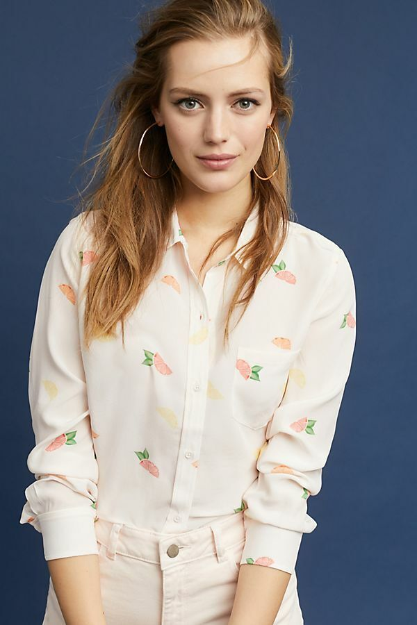 Nwt  Anthropologie  RAILS SEASIDE BUTTONDOWN blouse new Größe PL