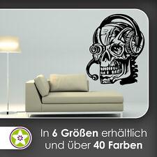 Harlekin Schädel Wandtattoo KIWISTAR Aufkleber Wall Sticker waf0067