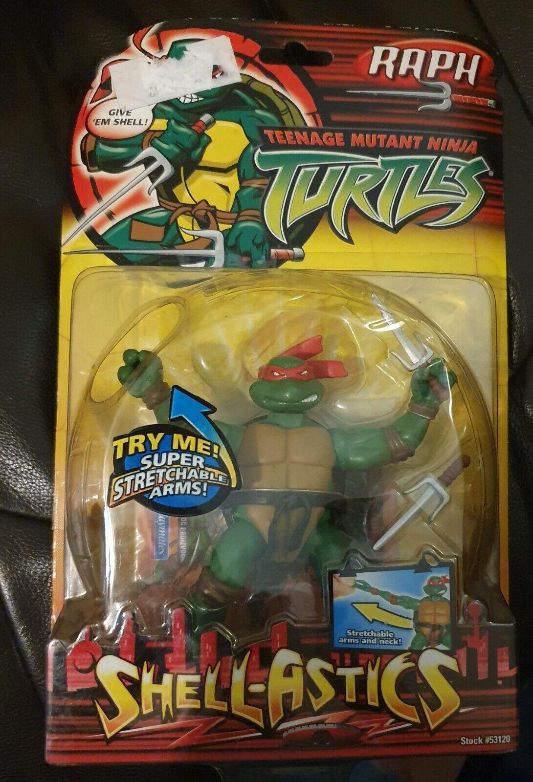 Teenage mutant ninja turtles, PLAYMATES, 2005, SHELL-ASTICS RAPH, new RARE