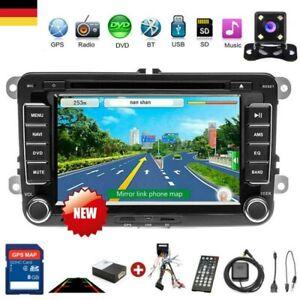 Autoradio-2DIN-7-034-GPS-NAVI-CD-DVD-FM-fuer-VW-Golf-Passat-B6-3C-Touran-Skoda-Seat