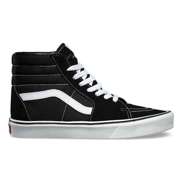 bd9e7fcec8 VANS Sk8 Hi Lite Mens Footwear Shoe - Suede Canvas Black White All ...