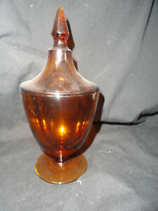 Amber-Depression-Glass-Candy-Dish-with-Lid