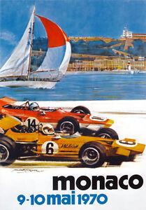 AV96-Vintage-1970-28th-Monaco-Grand-Prix-Motor-Racing-Poster-Art-Re-print-A4