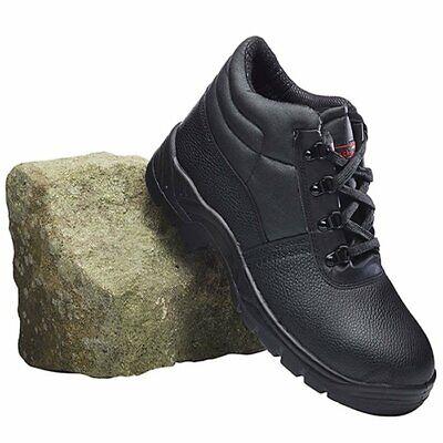 BLACK Chukka Work Safety Boot Leather Steel Midsole Men/'s//Ladies Sizes 3-13