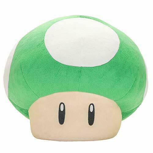 Super Mario Sitting Plush Doll Stuffed Toy 1up Mushroom Anime