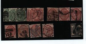 COLLECTION 1880- 1881 EARLY USED VICTORIA STAMPS SG 164-169 CAT £706