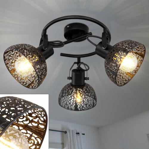 Rondell Decken Lampe schwarz Gäste Zimmer Dekor Stanzungen Strahler verstellbar