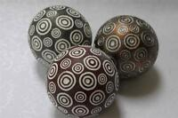 Decorative Circles Orbs Vase Fillers Accent Balls Spheres Gold/silver/maroon-3pc