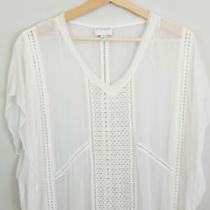 WITCHERY-Womens-Long-Embroidered-Kaftan-Dress-Top-Size-AU-12-or-US-8