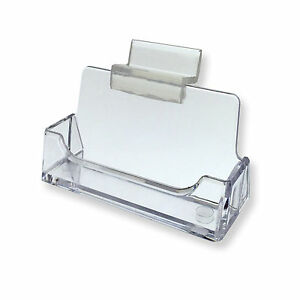 image is loading one slatwall clear plastic business card holder display - Plastic Business Card Holders