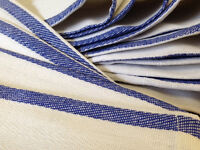1 Dozen 100% Cotton Blue Stripe Herringbone Kitchen Dish Towels Lintless 24oz on sale
