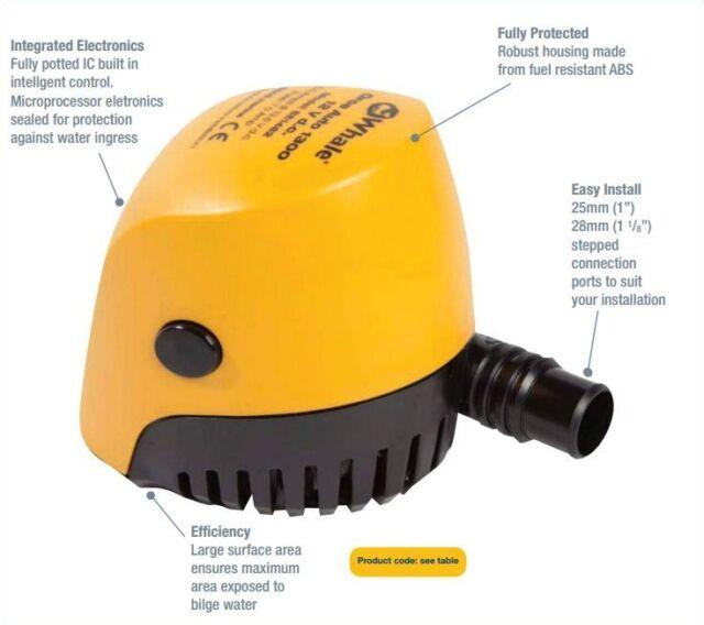 Whale Orca Auto 1300 Automatic Bilge Pump 12V