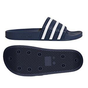 Details about Slides Adidas Originals adilette 288022 43 navy blue Beach Sandals Slippers Flip