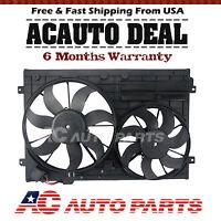 Radiator Cooling Dual Fan Assembly For Audi A3 Tt Vw Jetta Passat
