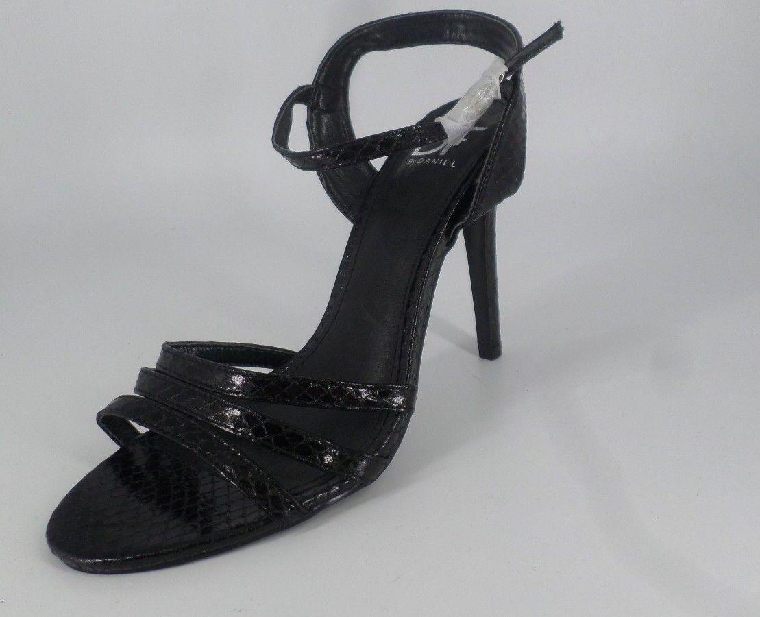 Daniel calzado con Tiras Tacón Alto patente Sandalia'S Negro NH086 AA 09