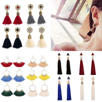 Fashion Womens Earrings Ear Stud Drop Long Tassel Boho Dangle Earrings Jewelry