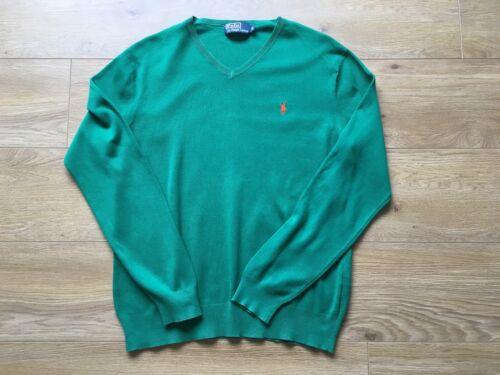 a V 120 M Costo con Medium verde maglia Splendida Ralph £ scollo Lauren Polo qHO8w6x0