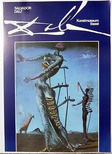 PRL-1985-SALVADOR-DALI-039-DALi-VINTAGE-AFFICHE-ORIGINAL-ART-PRINT-ARTE-POSTER