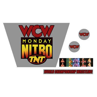 WWF//WWE Mattel Rétro WCW Monday Nitro CUSTOM RING Autocollants//Decals ECW NWO