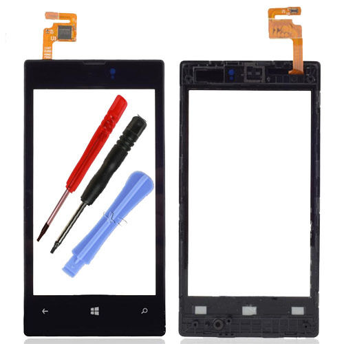 Touch Screen Digitizer Glass Lens Frame For Nokia Lumia 520 N520 + Tools Black