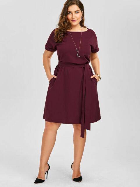 Vestidos Cortos De Fiesta Modernos Casuales Plus Size Elegantes Tallas Grandes Ebay