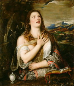 Tiziano-Vecellio-The-Penitent-Magdalene-Giclee-Paper-Print-Poster-Reproduction