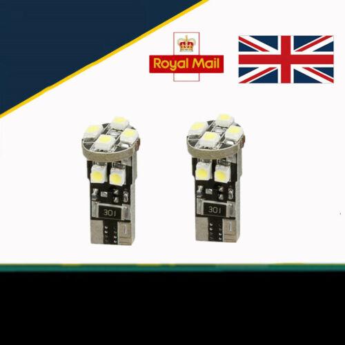 For Vauxhall Vivaro 2001-2014 White LED Sidelight Light Bulbs Error Free Upgrade