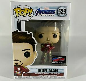 Funko-Pop-NYCC-2020-esclusiva-Marvel-Avengers-finale-di-Iron-Man-529-con-adesivo