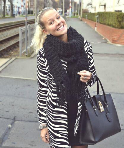 Bianco Blogueurs e Animal Zara Petit Manteau zᄄᄄbre Kayt imprimᄄᆭ nero knX0wP8O