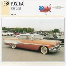 1958 PONTIAC STAR CHIEF Classic Car Photograph / Information Maxi Card