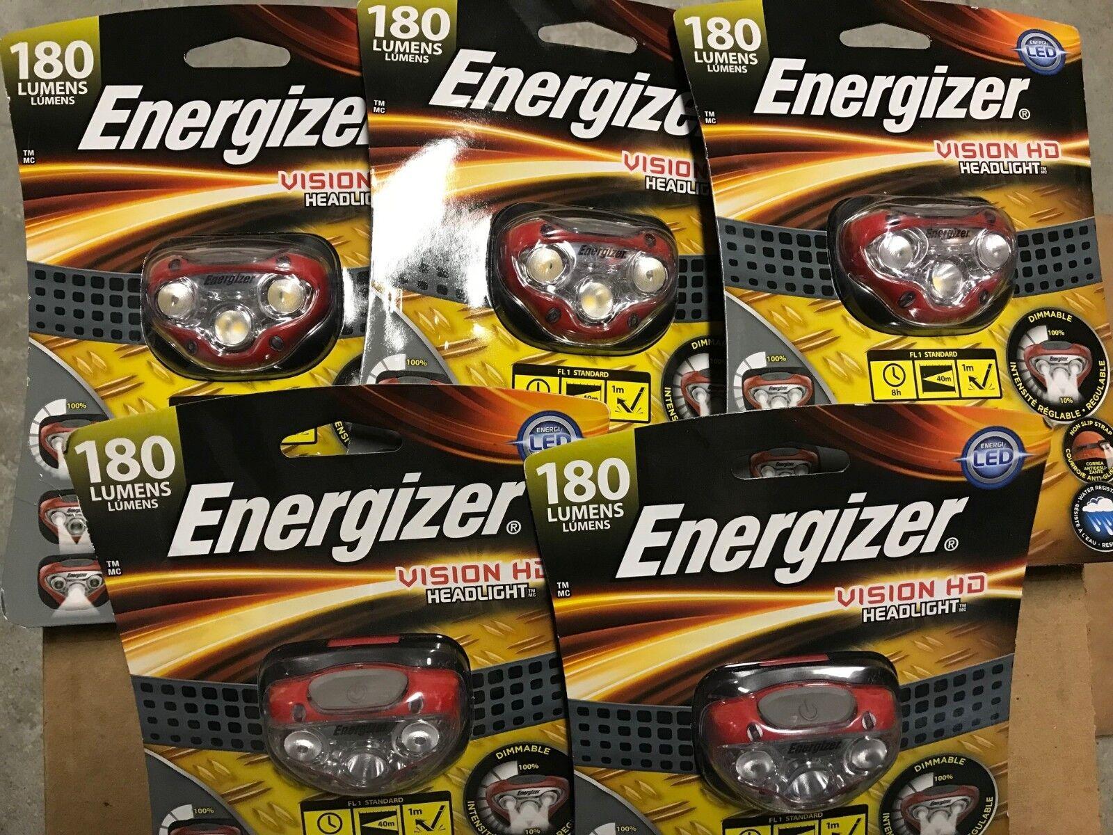 ENERGIZER 180 LU Herren VISION HEADLIGHTS HD HEADLIGHT INDUSTRIAL LOT OF 5 HEADLIGHTS VISION 15dccf