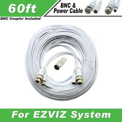 PREMIUM 60Ft HIGH QUALITY THICK BNC EXTENSION CABLES FOR NIGHT OWL C-841-PIR5MPN